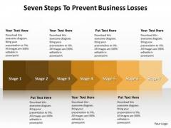 Marketing Diagram Seven Steps To Prevent Business Losses Sales Diagram
