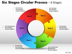 Marketing Diagram Six Stages Circular Diagram Process Business Framework Model
