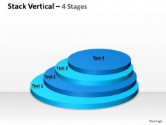 Marketing Diagram Stack Vertical With 4 Stages Of Business Strategic Management
