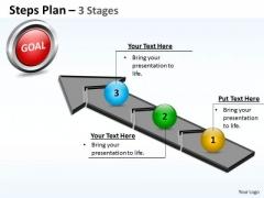 Marketing Diagram Steps Plan 3 Stages Style 4 Sales Diagram