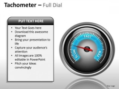 Marketing Diagram Tachometer Full Dial Business Diagram