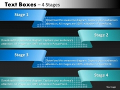 Marketing Diagram Text Boxes 4 Steps Strategy Diagram