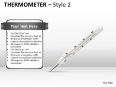 Marketing Diagram Thermometer Style 2 Business Framework Model