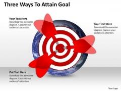 Marketing Diagram Three Ways To Attain Goal Sales Diagram