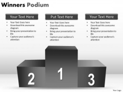 Marketing Diagram Winners Podium Business Framework Model