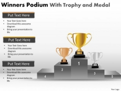 Marketing Diagram Winners Podium With Trophy And Medal Mba Models And Frameworks