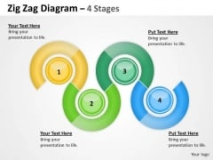Marketing Diagram Zig Zag 4 Stages Consulting Diagram