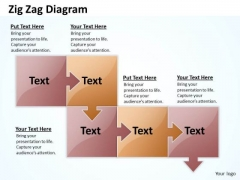 Marketing Diagram Zig Zag 5 Stages Consulting Diagram