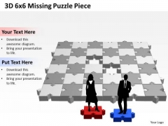 Mba Models And Frameworks 3d 6x6 Missing Puzzle Piece Strategic Management