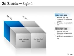 Mba Models And Frameworks 3d Blocks Style Business Cycle Diagram