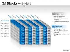 Mba Models And Frameworks 3d Blocks Style Consulting Diagram