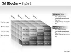 Mba Models And Frameworks 3d Blocks Style Marketing Diagram