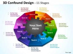 Mba Models And Frameworks 3d Confound Design 11 Diagram Stages Marketing Diagram