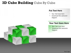 Mba Models And Frameworks 3d Cube Building Cube By Cube Business Cycle Diagram