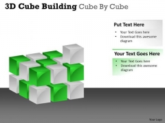Mba Models And Frameworks 3d Cube Building Cube By Cube Business Diagram