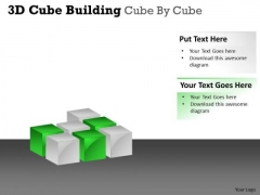 Mba Models And Frameworks 3d Cube Building Cube By Cube Business Framework Model
