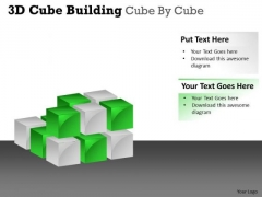 Mba Models And Frameworks 3d Cube Building Cube By Cube Marketing Diagram