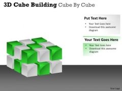 Mba Models And Frameworks 3d Cube Building Cube By Cube Sales Diagram