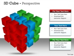 Mba Models And Frameworks 3d Cube Perspective Strategic Management