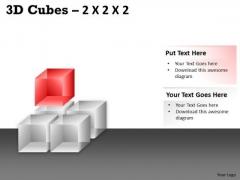 Mba Models And Frameworks 3d Cubes 2x2x2 Business Framework Model