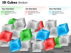 Mba Models And Frameworks 3d Cubes Broken Style Business Diagram