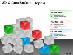 Mba Models And Frameworks 3d Cubes Broken Style Strategy Diagram