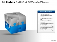 Mba Models And Frameworks 3d Cubes Built Out Of Puzzle Pieces Business Diagram