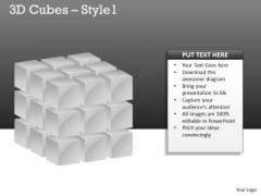 Mba Models And Frameworks 3d Cubes Style Business Diagram