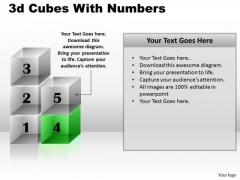 Mba Models And Frameworks 3d Cubes With Numbers Marketing Diagram