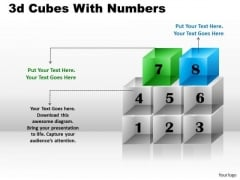 Mba Models And Frameworks 3d Cubes With Numbers Strategy Diagram