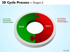 Mba Models And Frameworks 3d Cycle Process Flowchart Stages 2 Style Consulting Diagram
