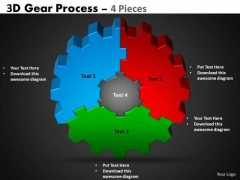 Mba Models And Frameworks 3d Gear Process 4 Pieces Sales Diagram