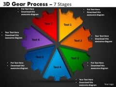 Mba Models And Frameworks 3d Gear Process 7 Strategy Diagram