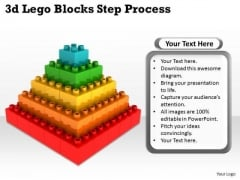 Mba Models And Frameworks 3d Lego Blocks Step Process Strategy Diagram