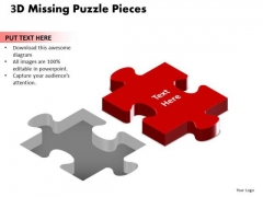 Mba Models And Frameworks 3d Missing Puzzle Piece Business Diagram