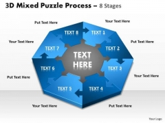 Mba Models And Frameworks 3d Mixed Puzzle Process 8 Consulting Diagram