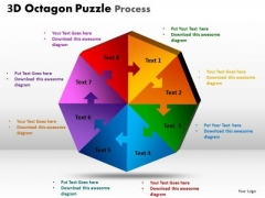 Mba Models And Frameworks 3d Octagon Puzzle Process Strategy Diagram