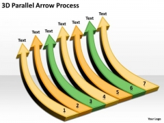 Mba Models And Frameworks 3d Parallel Arrow Process Strategy Diagram