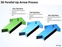Mba Models And Frameworks 3d Parallel Up Arrow Process Business Diagram