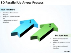 Mba Models And Frameworks 3d Parallel Up Arrow Process Strategy Diagram