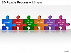 Mba Models And Frameworks 3d Puzzle Process 6 Stages Marketing Diagram