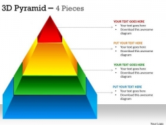 Mba Models And Frameworks 3d Pyramid 4 Stages For Strategy Business Diagram