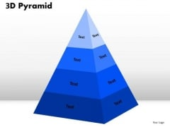 Mba Models And Frameworks 3d Pyramid Design For Business Strategy Diagram