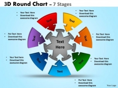 Mba Models And Frameworks 3d Round Chart 7 Stages Strategy Diagram