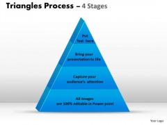 Mba Models And Frameworks 4 Staged Triangle For Business Process Flow Marketing Diagram