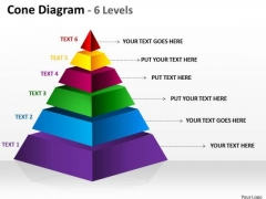 Mba Models And Frameworks 6 Staged Triangle Shape Business Sales Diagram