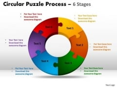 Mba Models And Frameworks 6 Stages Circular Puzzle Process Business Diagram