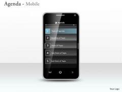 Mba Models And Frameworks Agenda Mobile Sales Diagram