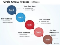 Mba Models And Frameworks Arrow 5 Stages Business Diagram