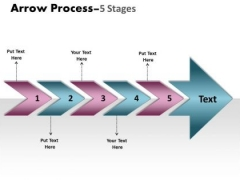 Mba Models And Frameworks Arrow Process 5 Stages Sales Diagram